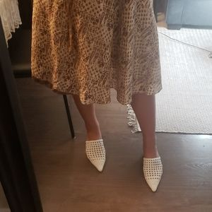 Vintage paisley silk skirt